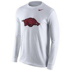 Nike™ Men's University of Arkansas Cotton Long Sleeve Logo T-shirt