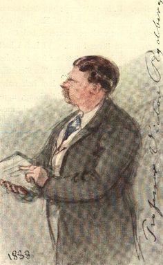 Viktor Rydberg som föreläsare, fångad av Fritz von Dardel 1888