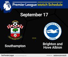Match Schedule, Premier League Matches, Southampton