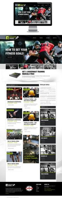 Create a professional WordPress theme for an elite sports portal! by Tuhin Biswas