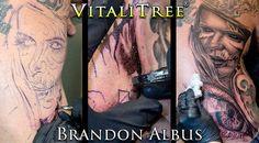 More #workinprogress shots from last weekend's Texas Ink & Art expo in #Galveston from @brandonsartworks! How about them juicy needles? You know you like it... #thepainisworthit   #blackandgrey #photorealistictattoo #blackandgreytattoo #tattooconvention #tattooexpo #artinprogress #tattooprogress #darkbeauty #eyetattoo #zombietattoo #livingdead #portraittattoo #backtattoo  #DontFlipOutFlipTheLid  #SlapSomeSalveOnIt #VitaliTreeTattoo  @texasinkedmagazine @texasinkart  #texastattoos…
