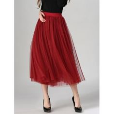SHARE & Get it FREE | Tulle High Waist Midi SkirtFor Fashion Lovers only:80,000+ Items • FREE SHIPPING Join Twinkledeals: Get YOUR $50 NOW!