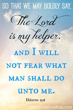 Thoughtful Thursday ~Creative K Kids The Lord is My Helper
