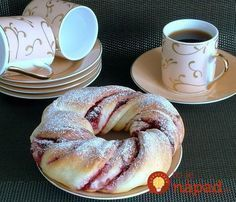 Recepty - Page 16 of 522 - Mňamky-Recepty. Delicious Donuts, Yummy Food, Food Network Recipes, Cooking Recipes, Puff Pastry Recipes, Russian Recipes, Fall Desserts, Sweet Bread, Bread Baking