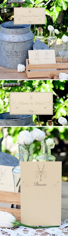 Papeleria para una boda rustic chic