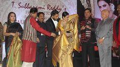 Veteran Bollywood actress Rekha was honoured with the third Yash Chopra Memorial Award in Mumbai.