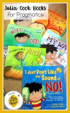 I love using Julia Cook books to target pragmatics, problem behaviors, or social skills in speech therapy.  Great for problem solving!