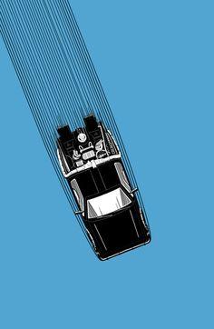 Back To The Future - DeLorean Art Print
