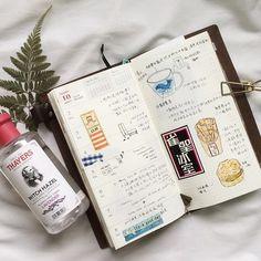 Week 40 * * * #midoritravelersnotebook #midori #travelersnotebook #notebook #maskingtape #washitape #watercolour #watercolor #drawing #dairies #dairy #traveljournal #artjournal #ngohi_dairy #sketch #traveldiaries #thedailywriting #stationery
