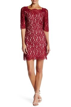 Delicate Lace Sheath Dress by Soieblu on @nordstrom_rack