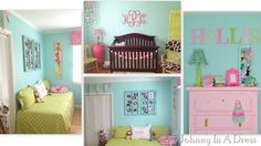aqua and pink nursery, Turquoise and pink nursery, baby girl nursery, girl nursery, nursery decor, nursery tips, how to decorate a nursery