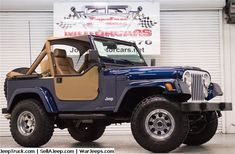 Jeeps For Sale and Jeep Parts For Sale - 1986 Jeep restored! Jeep Wrangler Grill, Cj Jeep, Jeep Wrangler Unlimited, Jeep Willys, Jeep Pickup, Jeep Truck, Ford Trucks, Jeep Parts For Sale, Blue Jeep