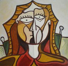 Retrato de mujer. Óleo sobre lienzo. Tamaño: 39x39 cms. Año 2014.