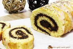 Kto ugości moich gości?: Rolada biszkoptowa z masą makową Aga, Doughnut, French Toast, Cheesecake, Muffin, Cooking Recipes, Sweets, Snacks, Breakfast