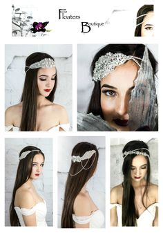 Unique Handmade Bridal Headpieces and hair accessories. Shop now @ https://www.etsy.com/shop/HairFloaters