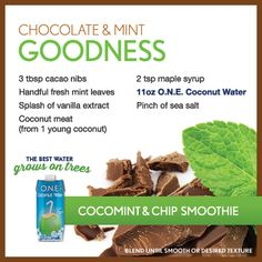 Chocolate & Mint Goodness Smoothie