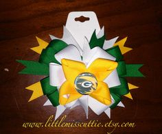 Greenbay Packers Hair bow by LittleMissCuttie on Etsy, $5.50