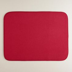 One of my favorite discoveries at WorldMarket.com: Extra-Large Red Dish Drying Mat