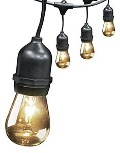 Feit Electric 72041 30' 10-Socket, 15 Bulbs, Outdoor String Light Set - 30 foot 10-socket, 15 bulbs, outdoor string light set, heavy duty, outdoor, weatherproof string lights. 3 foot spacing per socket. Great for patios, backyards, porches and special occasions.