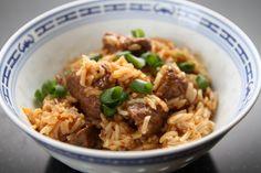 Rezept den Instant Pot IP-DUO60: Reisfleisch mit Rindfleisch und Basmati-Reis. Klassisches One-Pot-Rezept, welches sehr einfach nachzukochen ist.