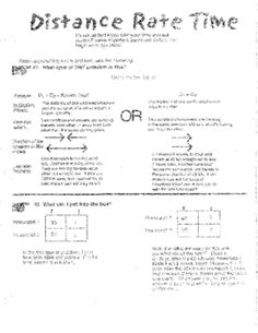 Distance Rate Time Word Problems Worksheet & TASK CARDS (b | Math ...
