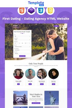 First Dating is a 100 responsive minimal Online Dating template. The template can be used by any kind of business or agency. First Dating will be your Event Landing Page, Best Landing Page Design, Planner Template, Page Template, Website Color Schemes, Landing Page Inspiration, Dating Agency, Singles Sites, Corporate Style
