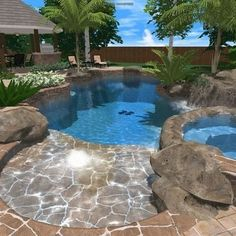 Having a pool sounds awesome especially if you are working with the best backyard pool landscaping ideas there is. How you design a proper backyard with a pool matters. Backyard Pool Landscaping, Backyard Pool Designs, Garden Pool, Landscaping Ideas, Oberirdische Pools, Cool Pools, Pools Inground, Awesome Pools, Outdoor Pool