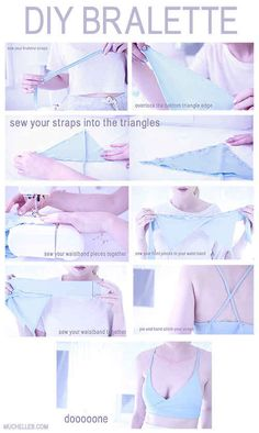 Get your own DIY bralette with this tutorial.