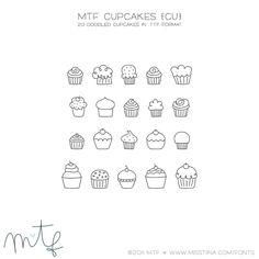 MTF Cupcakes|MissTiina.com {Fonts}