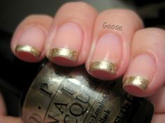 Gold tip french mani
