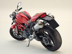 Ducati Monster / WIP Renders by Jason Armstrong, via Behance