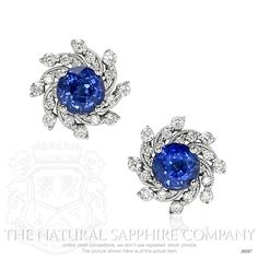 1.01ct Blue Sapphire Earring Image