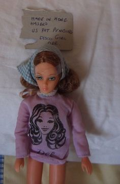 RARE 70s  9 in  DISCO GIRL  DOLL HASBRO MATCHBOX MADE HONG KONG US PAT PENDING  | Dolls & Bears, Dolls, Clothing & Accessories, Vintage Dolls | eBay!