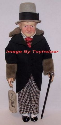 "Effanbee W C Fields 15"" Doll with Cane & Hat Tags NIB #Effanbee #DollswithClothingAccessories"
