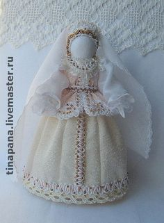 """""""Веста"""" - народная кукла,традиционная кукла,белый,вышивка биссером,невеста"""