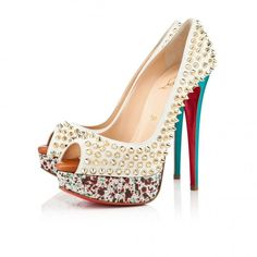 Lady Peep Spikes Christian Louboutin bianche