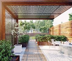 A pergola gives a secluded region and shade in the summertime. A pergola is something which will fall in that category. Then pergola is a superb choice. There's nothing quite like a gorgeous, modern-day pergola in order to add value… Continue Reading → Outdoor Screens, Outdoor Pergola, Backyard Pergola, Pergola Shade, Outdoor Rooms, Backyard Landscaping, Outdoor Living, Modern Pergola, Cheap Pergola