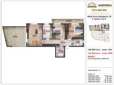 Apartamente de vanzare Mihai Bravu Residence 10 -3 camere tip B Desktop Screenshot, Floor Plans, Floor Plan Drawing, House Floor Plans