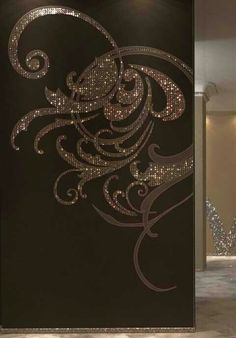 Beautiful stenciled accent wall