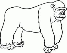 free animals gorilla coloring pages for preschool
