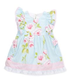 9311b8b26c3 Loving this Blue Floral Pinafore Dress - Infant  amp  Toddler on  zulily!
