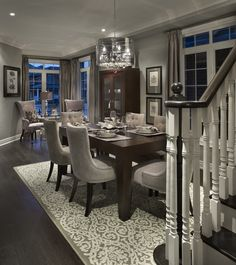 Lavender model living room and dining room