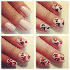 Summer Cherry Nails