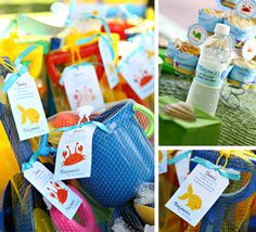 This Under the Sea birthday party is so sweet! Lots of ideas for food, favors, and party decor. Great inspiration for an Under the Sea birthday party! Ocean Party, Beach Party, Shark Party, Hawaian Party, Octonauts Party, 3rd Birthday Parties, Birthday Ideas, 2nd Birthday, Summer Birthday