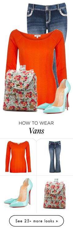 """Untitled #11940"" by nanette-253 on Polyvore featuring maurices, River Island, Vans and Christian Louboutin"