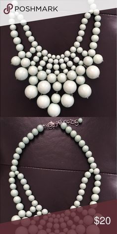 Mint green bauble bar necklace Mint green statement necklace from baublebar! I always wore this as a bright accent piece for spring/summer or with a white tee and jeans. Offers welcome! baublebar Jewelry Necklaces