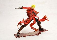 Legendary gunman, outlaw, and all-around goof-ball, Vash the Stampede, the star of the hit 1990s anime series Trigun is back in the form of this striking figure!  This superbly-crafted figure measures approximately 187 mm tall and is made of PVC/ABS. The figure depicts Vash in a dynamic attack pose, with his gun raised and his famous red jacket flailing around in every direction. Also included i...
