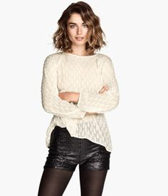 H&M Sequined Shorts $24.95