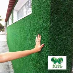 grama sintética decorativa revestimento muro parede viva