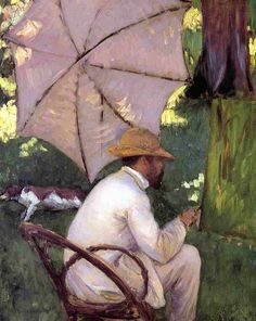 Gustave Caillebotte The Painter under His Parasol